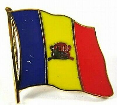 New With Pressure Lock 0 5/8in Andorra Flags Pin Badge