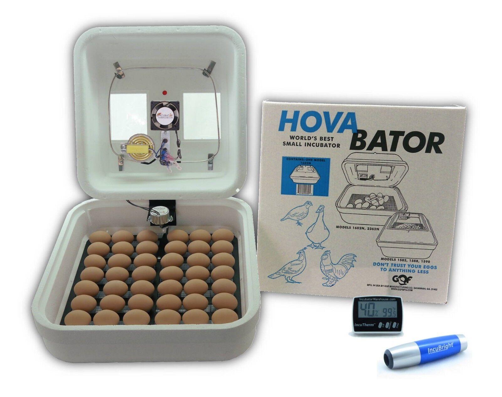 HovaBator Egg Incubator   IncuTurn Auto Turner   Fan Kit   Thermometer   Candler