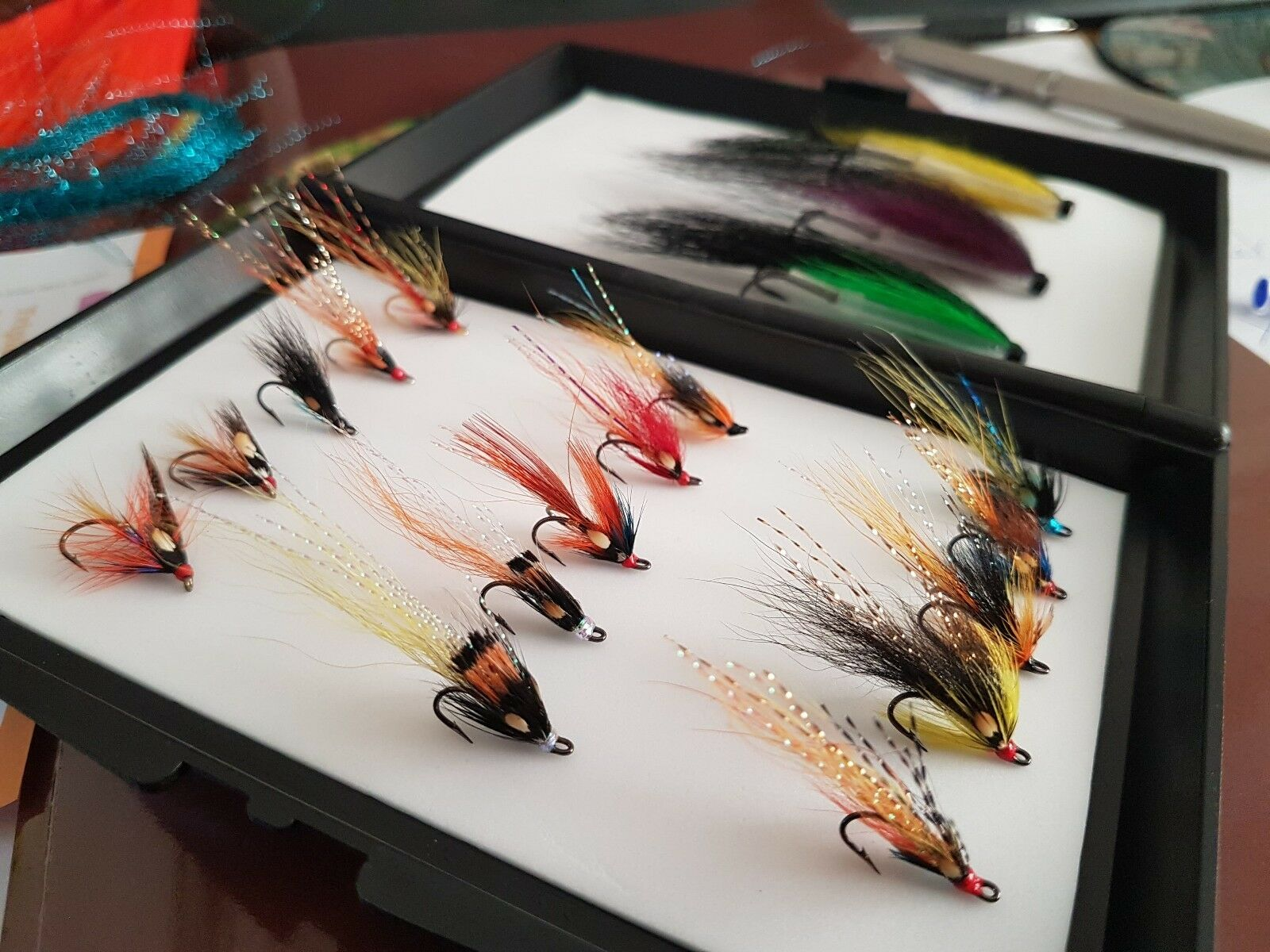 Low Water  Salmon Fly Boxed Selection Large  beautiful