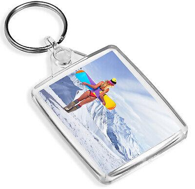 Competente Snowboard Chick Portachiavi Sci Sport Invernali Montagna Neve Portachiavi Regalo #8413-mostra Il Titolo Originale