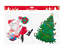 Noel-Noel-Fenetre-Verre-Gel-Autocollants-Decorations-plaque-pochoir-Santa-Design miniature 8
