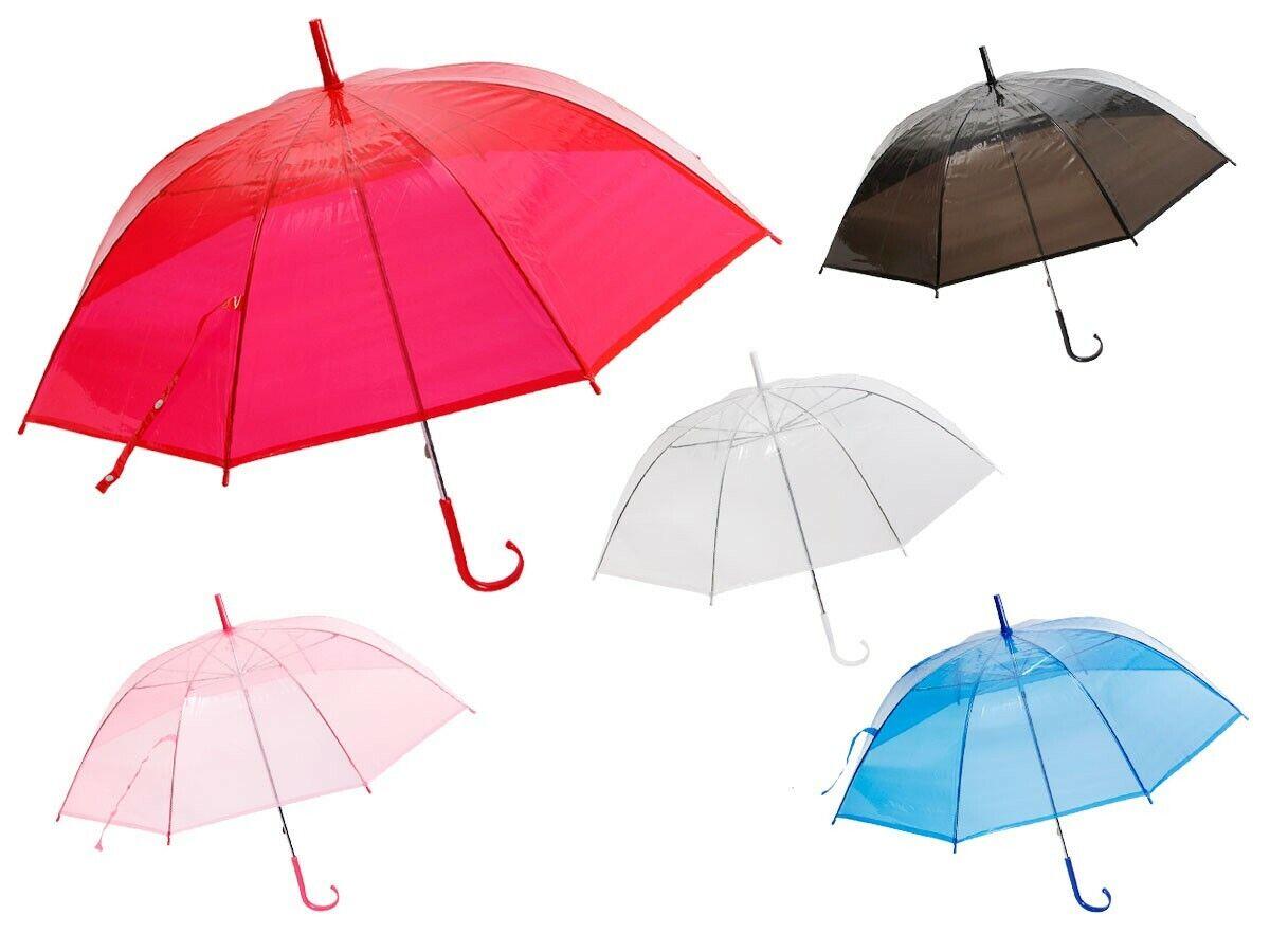 Umbrella Transparent City Long Umbrella Handle Men's Women's
