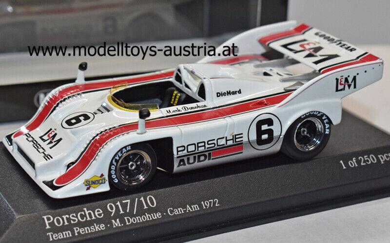 Porsche 917 10 Spyder 1972 Can Am Mark DONOHUE Team PENSKE 1 43