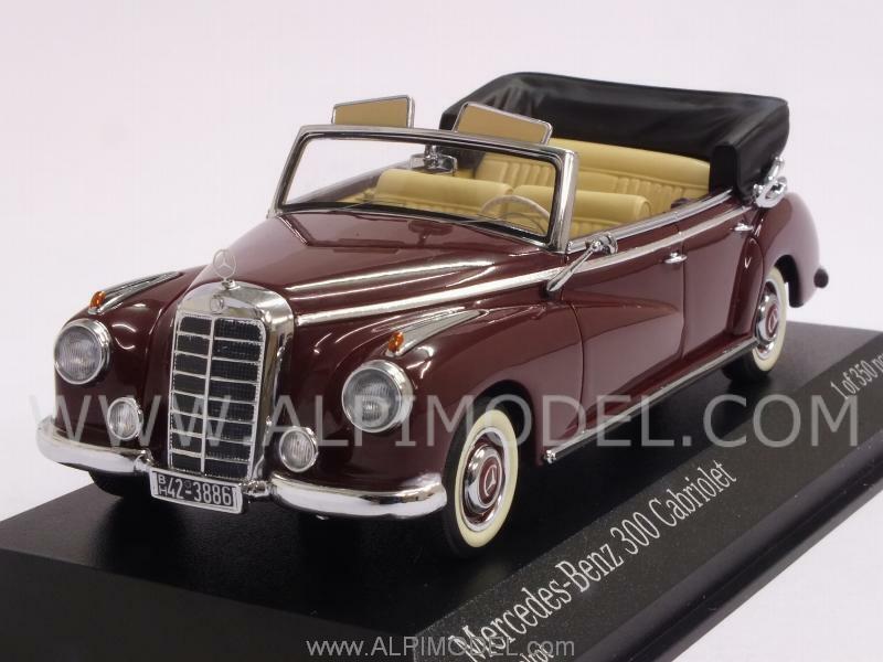 Mercedes 300 Cabriolet W186 1952 Middle rouge 1 43 MINICHAMPS 437032131