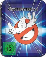 GHOSTBUSTERS 1+2 (Bill Murray, Dan Aykroyd) 2 Blu-ray Discs, Steelbook NEU+OVP