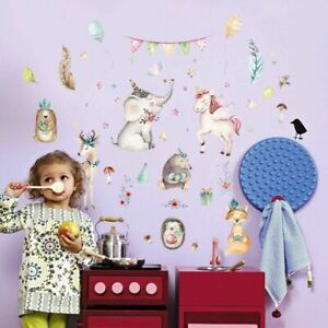 Colorful-Unicorn-DIY-Wall-Stickers-Nursery-Kids-Room-Removable-Mural-Decal-Decor