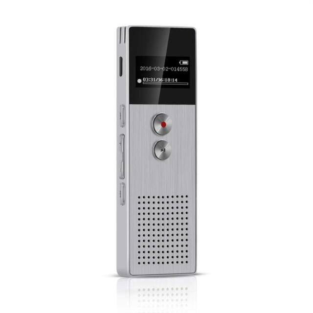 AGPTEK M23 8GB DIGITAL VOICE RECORDER RECHARGEABLE DICTAPHONE/MP3 PLAYER SILVER