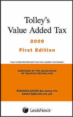 (Very Good)-Tolley's Value Added Tax 2009 (Paperback)-Wareham, Robert,Rudling, D