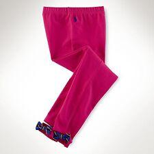 Ralph Lauren Girls Bow Back Legging Currant Sz XL (16) - NWT