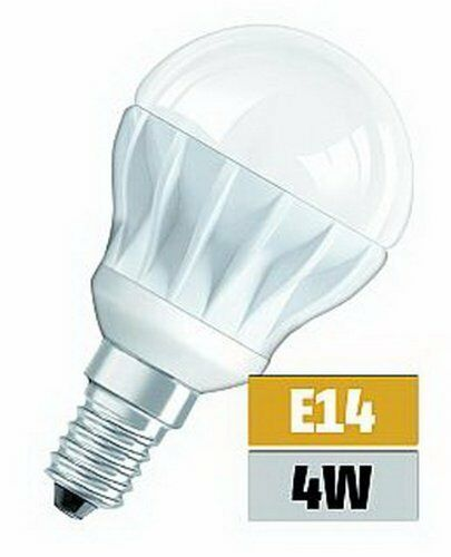5x LED Osram Superstar Classique Ampoule P25 E14 4W 3000K blanc chaud
