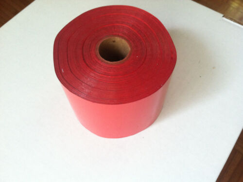 "KWIKPRINT KINGSLEY TIPPER Hot Stamping Printing Foil Roll 1800 ft 3/"" wide RED"