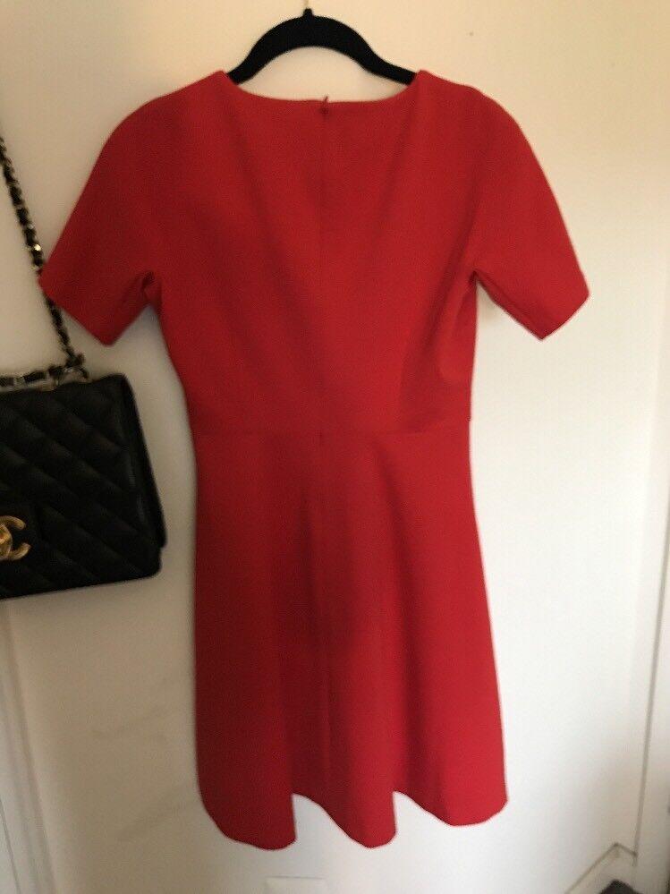 UNIQLO Size XSNew  Women's orange Short Sleeve Drop Waist Flare Dress
