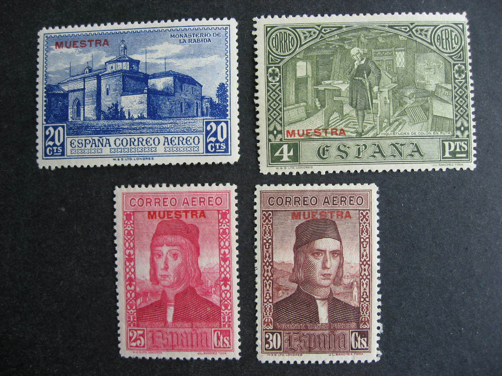 Spain Muestra, Specimen overprints on Sc C35-7, C41 MH check them out!