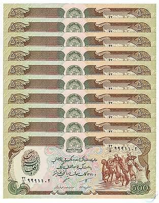 AFGHANISTAN 1000 1,000 Afghanis X 10 PCS 1991 P-61c 1//10 Bundle UNC