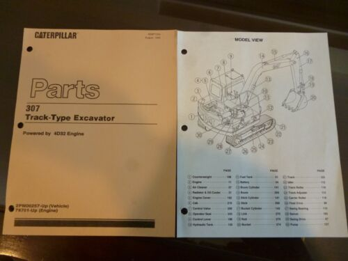 Caterpillar 307 Excavator  Parts manual with 4D32 engine