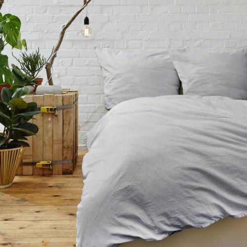 Zippered Washable 3 Piece Duvet Set for Comforter Solid Color Cool Soft Feel