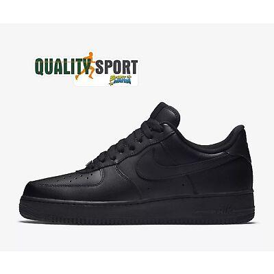Nike Air Force 1  07 Nero Scarpe Shoes Uomo Sportive Sneakers 315122 001  2019 4e3888ebe79