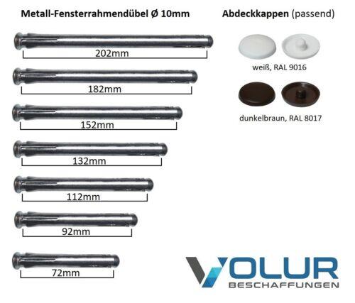 Rahmendübel Fensterrahmendübel Metallrahmendübel Ø 10mm versch Längen