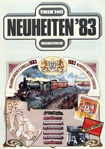 Trix-Minitrix-Neuheiten-1983-Prospekt-Modellbahnprospekt-brochure-model-railway