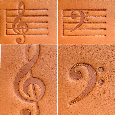 """Clicker Stamp Delrin 2/"""" x 1.5/"""" Jeep Leather Embossing Stamp"""