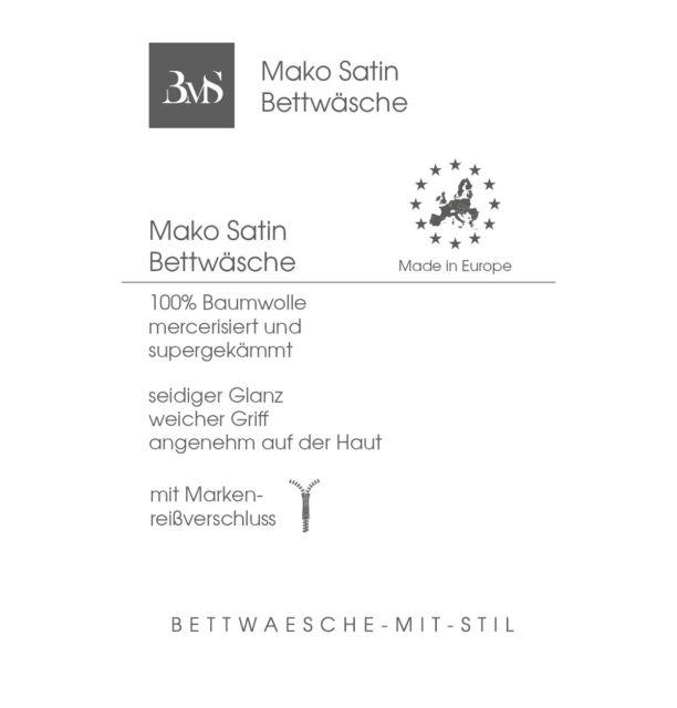 Janine Mako-Satin Bettwäsche  155x220 cm  2-tlg uni 31001-29  sand  1B