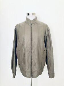 c86f7fef4 Derimod Vintage (80's) Leather Bomber Jacket Women's Size 50(M) Lt ...