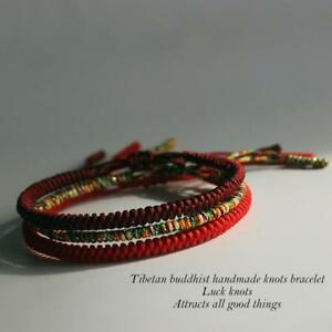 Authentic-Tibetan-Buddhist-Bracelet-Knot-Lucky-Rope-Bangle-Handmade-Multi-Color