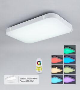 Lampada led da soffitto ultraslim leucht luce bagno soggiorno dimmerabile o rgb ebay for Lampada bagno soffitto