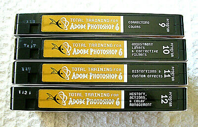 Total Training for Adobe Photoshop 6 4 VHS Tapes Series 3 Photoshop At Its  Best | eBay