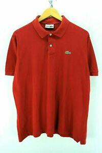 Lacoste Homme Polo Shirt en Rouge Taille 6 XL à manches courtes Polo en coton EF2574