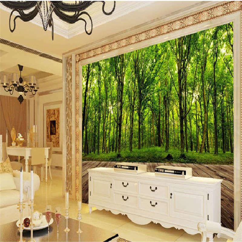 Extensive Forests 3D Full Wall Mural Photo Wallpaper Printing Home Kids Decor