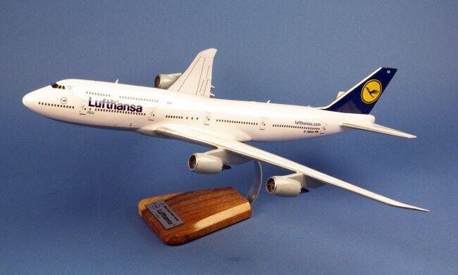 Boeing 747 - 8 LUFTHANSA ronds AIRCRAFT yakair Wood Modèle Jet