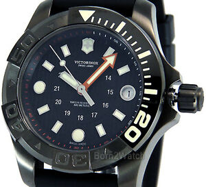 VICTORINOX SWISS ARMY UNISEX WATCH DIVE MASTER 500 GUNMETAL 38mm ... f24e1049b