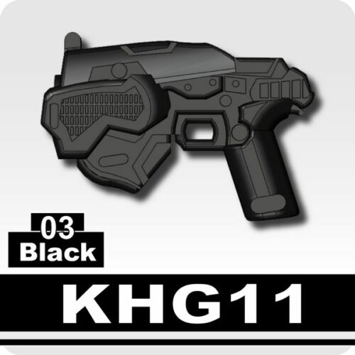 KHG11 Black Pistol compatible with toy brick minifigures Army Post Apoc W105