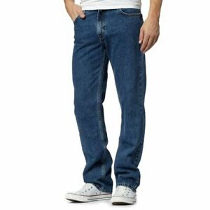 Mens-Work-Heavy-Duty-Denim-Jeans-Gents-Straight-Leg-Jeans-Pants-All-Waist-amp-Size