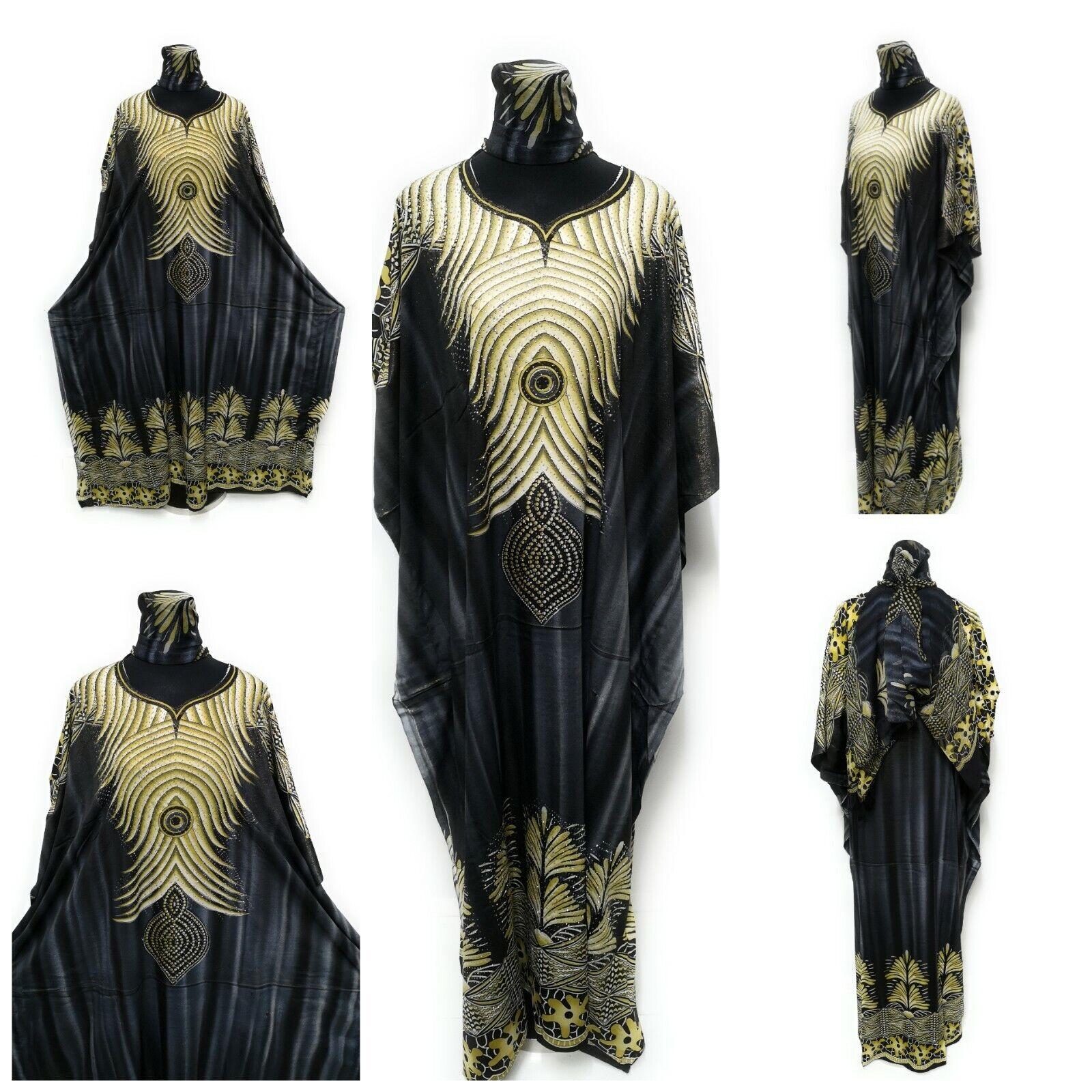 Free Size Kaftan Tunic Holiday Dress Beach Cover up fits 12,14,16,18,20,22,24