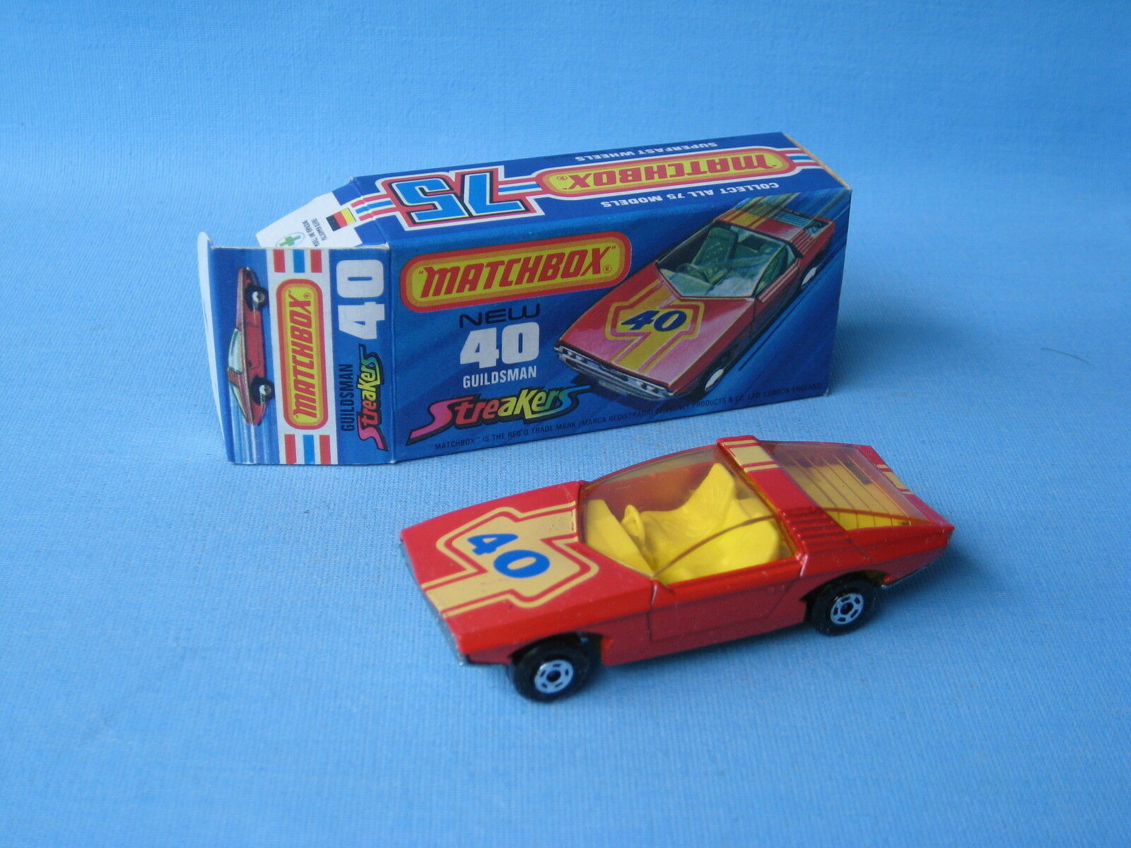 Lesney MATCHBOX SUPERFAST 40 Vauxhall Guildsman AMBRA finestra Streaker Streaker Streaker in Scatola 2ecb85