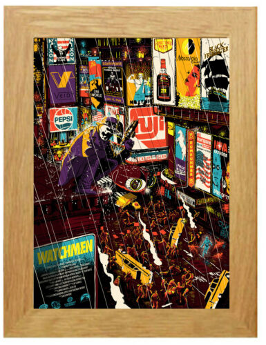 Framed Option A3 A4 Watchmen Classic Movie Poster Canvas Art Print