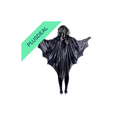 schwarze Vampir Flügel Vampirflügel Fledermaus  Cape Umhang Halloween Horror Blu
