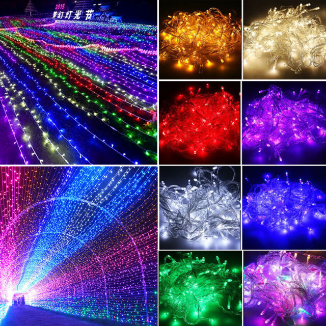 10/20/30/50/100M LED Lichterkette Innen Party Garten Weihnacht Beleuchtung Licht