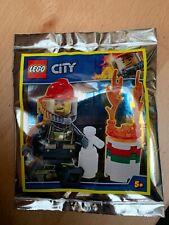 Feuerwehrmann Mit Feuerlöscher Stickertütchen 12B6 Lego City