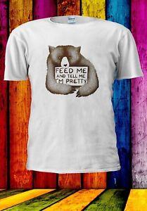 Imboccami-E-dimmi-che-sono-abbastanza-Peluche-Orso-Uomini-Donne-Unisex-T-shirt-928