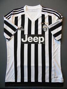Details about Juventus jersey 2015-16 home shirt adidas White/black JEEP Men Adult ig93