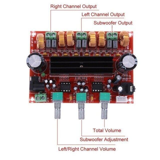 New 2x50W +100W 2.1 Channel Digital Subwoofer Power Amplifier Board TPA3116D2