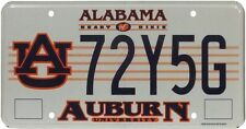 Véritable Plaque d'immatriculation de l'Alabama (72Y5G) - License Plate USA