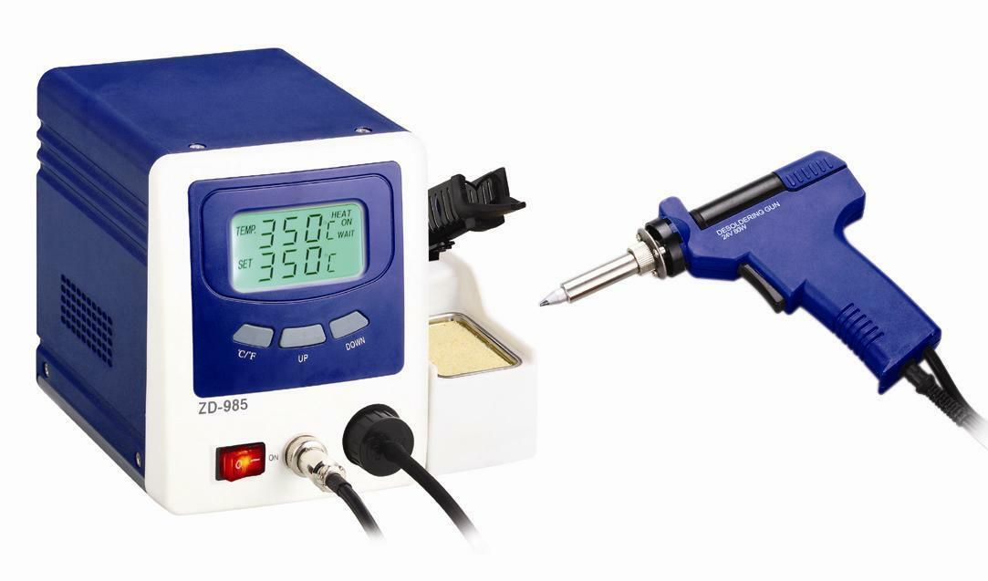 FR-LEAD FREE DESOLDERING STATION WITH LCD PANEL ZD-985 NEW 220V
