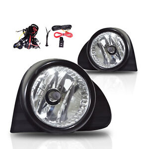 03-04-05-Toyota-Echo-Fog-Lights-Clear-Lens-Front-Bumper-Lamps-COMPLETE-KIT