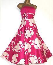 MONSOON ✩ STUNNING MURILLO CERISE PINK SILK ORIANE FIT & FLARE DRESS ✩ UK  10