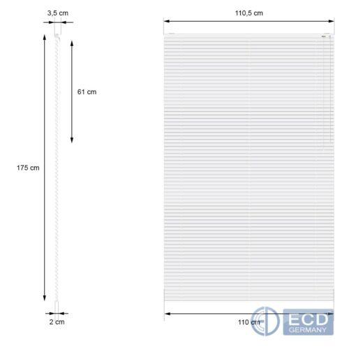 Plain ready made aluminium 25mm slat venetian window blinds black 40-140cm width