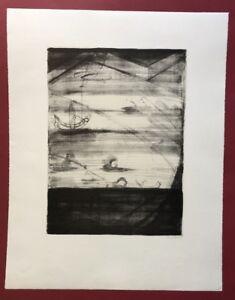 Lrmel Droese, unerlösbar, litografia, 1987, a mano firmata e datata
